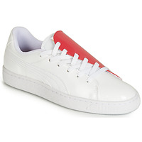 Shoes Women Low top trainers Puma WN BASKET CRUSH.WH-HIBISCU White