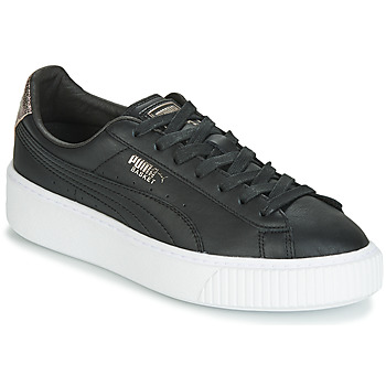 Shoes Women Low top trainers Puma WN SUEDE PLATFM OPULENT.BL Black