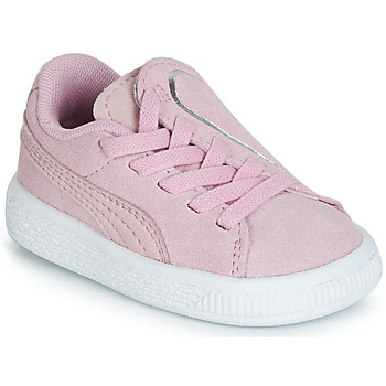 Shoes Girl Low top trainers Puma INF SUEDE CRUSH AC.LILAC Lilac