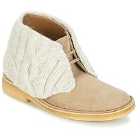 Shoes Women Mid boots Clarks DESERT BOOT Sand / Combi