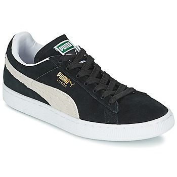 Shoes Low top trainers Puma SUEDE CLASSIC Black / White