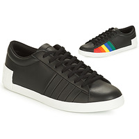 Shoes Women Low top trainers Le Coq Sportif FLAG Black / Multicoloured