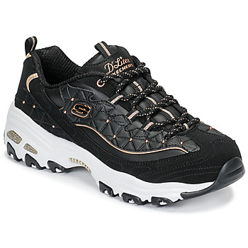 Shoes Women Low top trainers Skechers D'LITES GLAMOUR FEELS Black