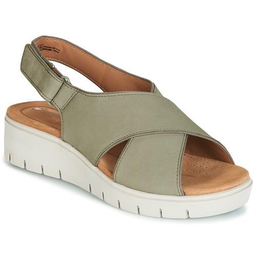 Shoes Women Sandals Clarks UN KARELY SUN Green