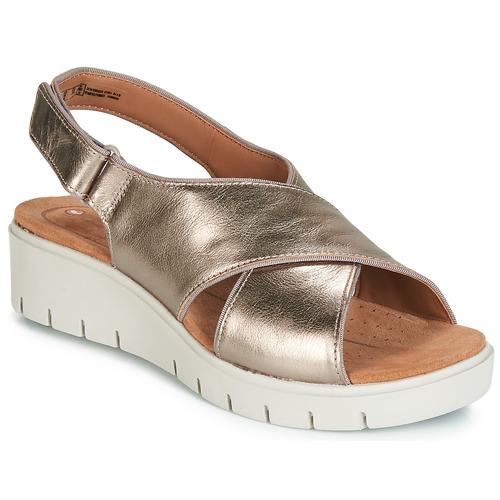 Shoes Women Sandals Clarks UN KARELY SUN Gold