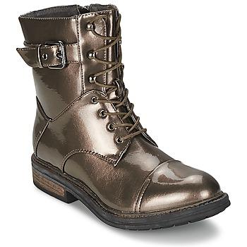 Shoes Women Mid boots Les P'tites Bombes STONE Silver