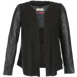 material Women Leather jackets / Imitation le Naf Naf COCOTTE Black