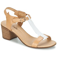 Shoes Women Sandals Betty London GANTOMI Camel / White