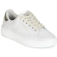 Shoes Girl Low top trainers Kappa SAN REMO KID White / Silver