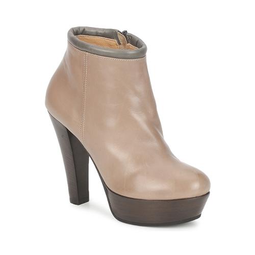 Shoes Women Low boots Keyté POULOI Taupe