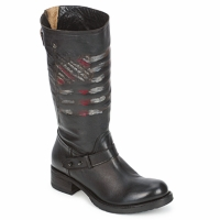 Shoes Women Mid boots Strategia ENRO Black / Printed / Flag