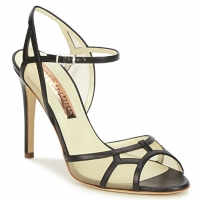 Shoes Women Sandals Rupert Sanderson TREEN Black / Beige