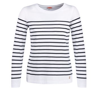 material Women Long sleeved shirts Armor Lux YARIL White / Marine