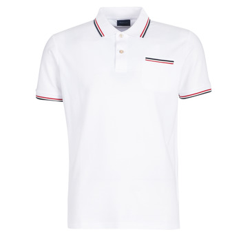 material Men short-sleeved polo shirts Gant COL TIPPING PIQUE White