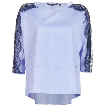 material Women Blouses Armani Exchange HELBORI Blue