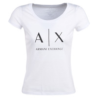 material Women short-sleeved t-shirts Armani Exchange HELIAK White