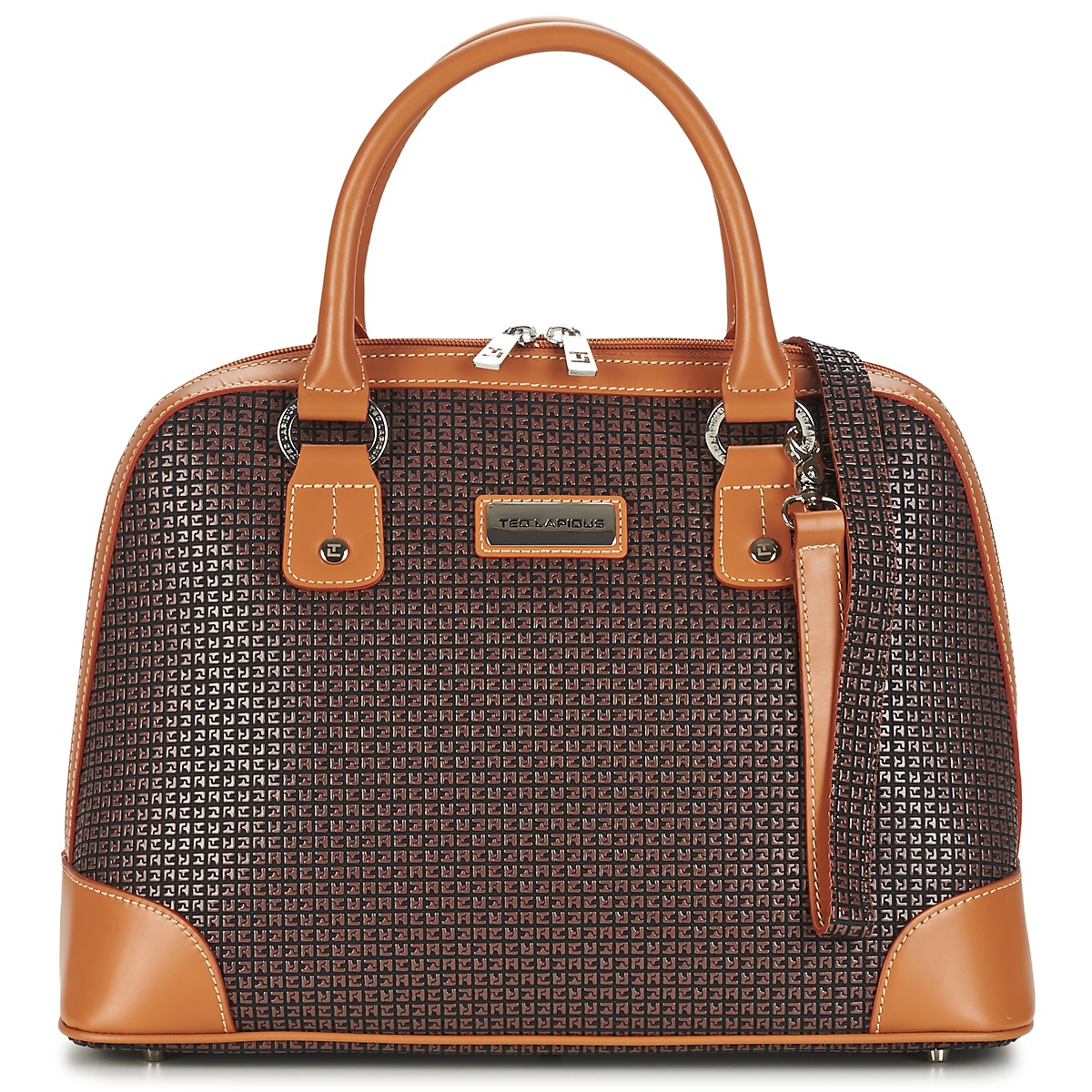 Ted Lapidus Fidelio Brown Cognac Free Delivery With Spartoo Net Bags Handbags Women Usd 185 00