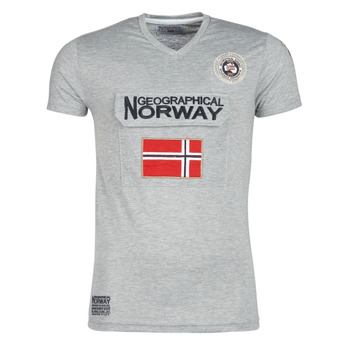 material Men short-sleeved t-shirts Geographical Norway JAYFOUR Grey