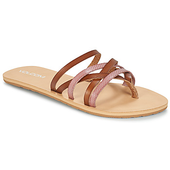Shoes Women Flip flops Volcom LEGACY Brown