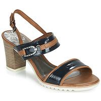 Shoes Women Sandals Marco Tozzi TRELEME Camel / Marine