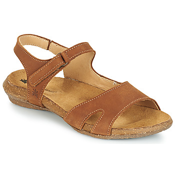 Shoes Women Sandals El Naturalista WAKATAUA Brown