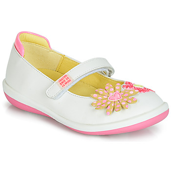 Shoes Girl Ballerinas Agatha Ruiz de la Prada BUTTERFLY White / Pink