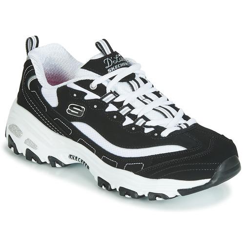 Skechers D'LITES Black / White - Free