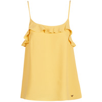 material Women Tops / Sleeveless T-shirts LPB Woman AZITAFE Yellow