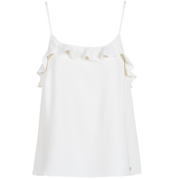 material Women Tops / Sleeveless T-shirts LPB Woman AZITAFE White