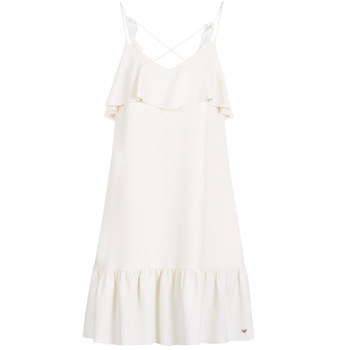 material Women Short Dresses LPB Woman AZITARBE White