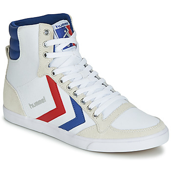 Shoes Men High top trainers Hummel TEN STAR HIGH CANVAS White / Blue / Red