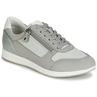 Shoes Women Low top trainers Geox D AVERY Silver / Grey