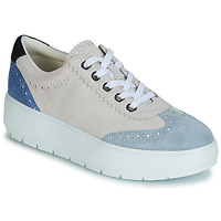 Shoes Women Low top trainers Geox D KAULA White / Beige
