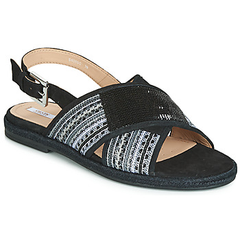 Shoes Women Sandals Geox D KOLEEN Black