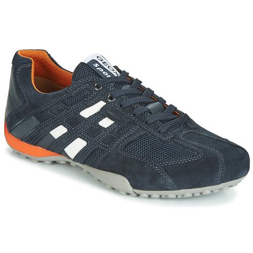 Shoes Men Low top trainers Geox UOMO SNAKE Marine