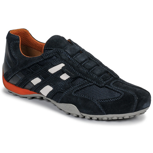 Shoes Men Low top trainers Geox UOMO SNAKE Blue / Black