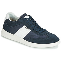 Shoes Men Low top trainers Geox U KENNET Marine / White