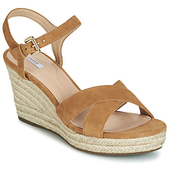 Shoes Women Sandals Geox D SOLEIL Camel