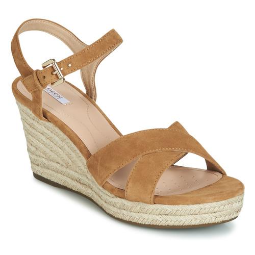 Shoes Women Sandals Geox D SOLEIL Camel