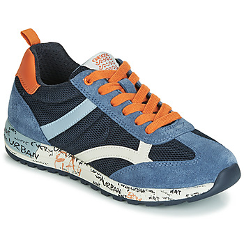 Shoes Boy Low top trainers Geox J ALBEN BOY Marine / Orange