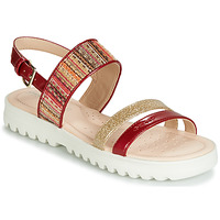 Shoes Girl Sandals Geox J SANDAL CORALIE GIR Red / Orange