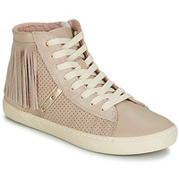 Shoes Girl High top trainers Geox J KILWI GIRL Beige