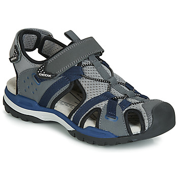 Shoes Boy Sports sandals Geox J BOREALIS BOY Grey / Marine