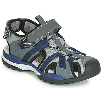 Shoes Boy Sports sandals Geox J BOREALIS BOY Grey / Marine