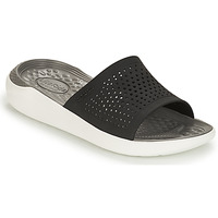 Shoes Mules Crocs LITERIDE SLIDE Black / White