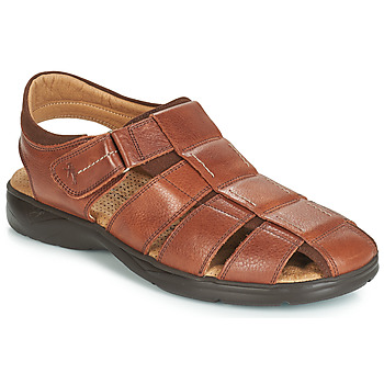 Shoes Men Sandals Fluchos DOZER Brown