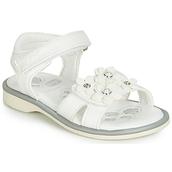 Shoes Girl Sandals Chicco CETRA White / Perls