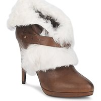Shoes Women Ankle boots Roberto Cavalli QPS586-PJ027 Brown / White