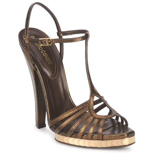 Shoes Women Sandals Roberto Cavalli QDS627-PM027 Bronze