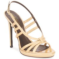 Shoes Women Sandals Roberto Cavalli QDS626-PL028 BEIGE